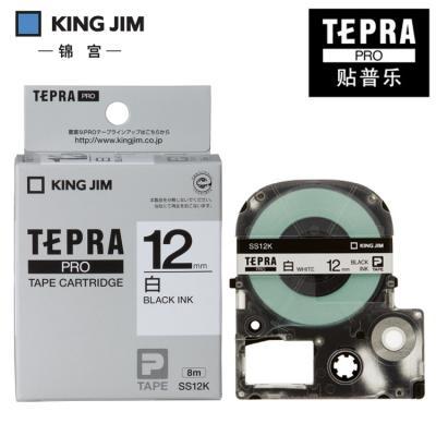 TEPRA SS12K - Chữ đen nền trắng 12mm