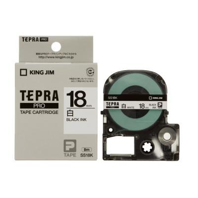 TEPRA SS18K - Chữ đen nền trắng 18mm