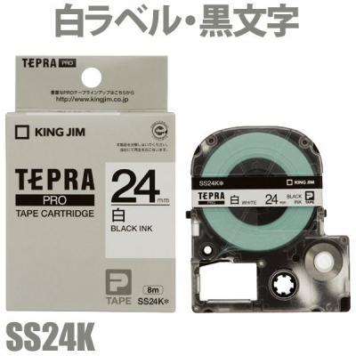 TEPRA SS24K - Chữ đen nền trắng 24mm