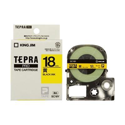TEPRA SC18Y - Chữ đen nền vàng 18mm