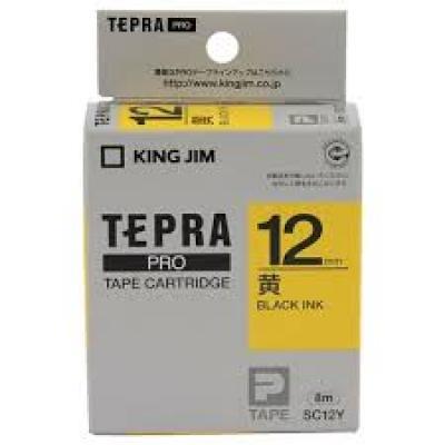 TEPRA SC12Y - Chữ đen nền vàng 12mm