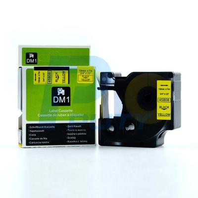 DM-45808 Black on Yellow 19mm x 7met