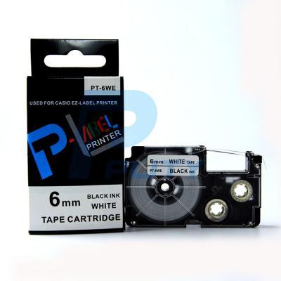 Nhãn in PT-6WE / Chữ đen nền trắng 6mm