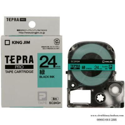TEPRA SC24G - Chữ đen nền xanh lá 24mm