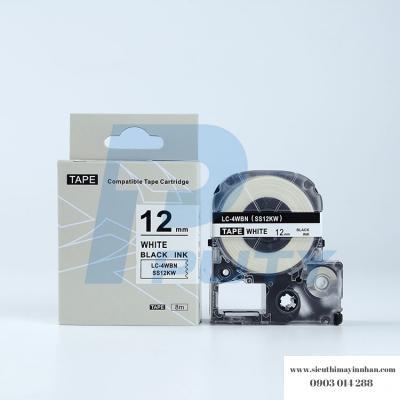 Băng nhãn LC-4WBN (SS12K ) - 12mm cho máy Epson -Tepra