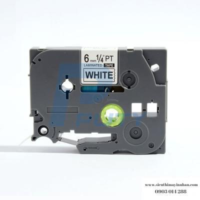 Nhãn in TZ2-211 / Chữ đen nền trắng / Black on White 6mm
