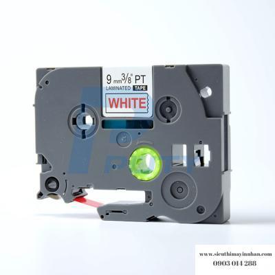 Nhãn in TZ2-222 / Chữ đỏ nền trắng / Red on White 9mm